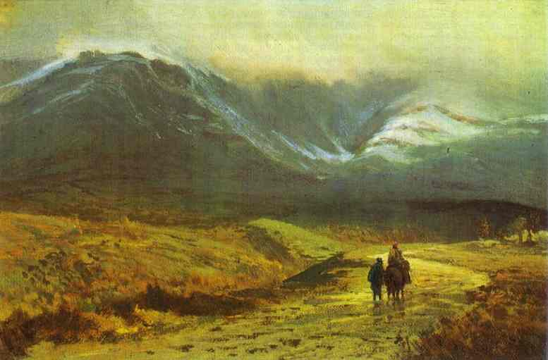 Oil painting:In the Crimea. After a Rain. 1871
