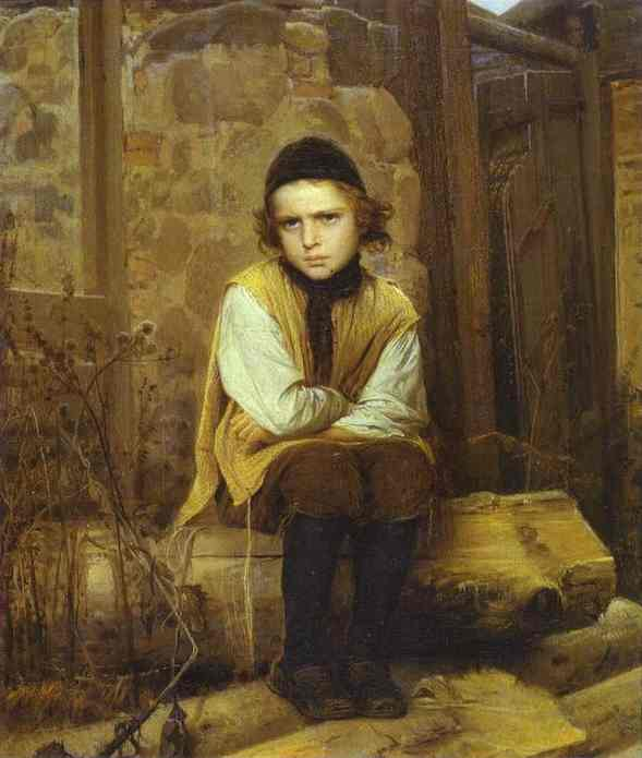 Oil painting:Insulted Jewish Boy. 1874