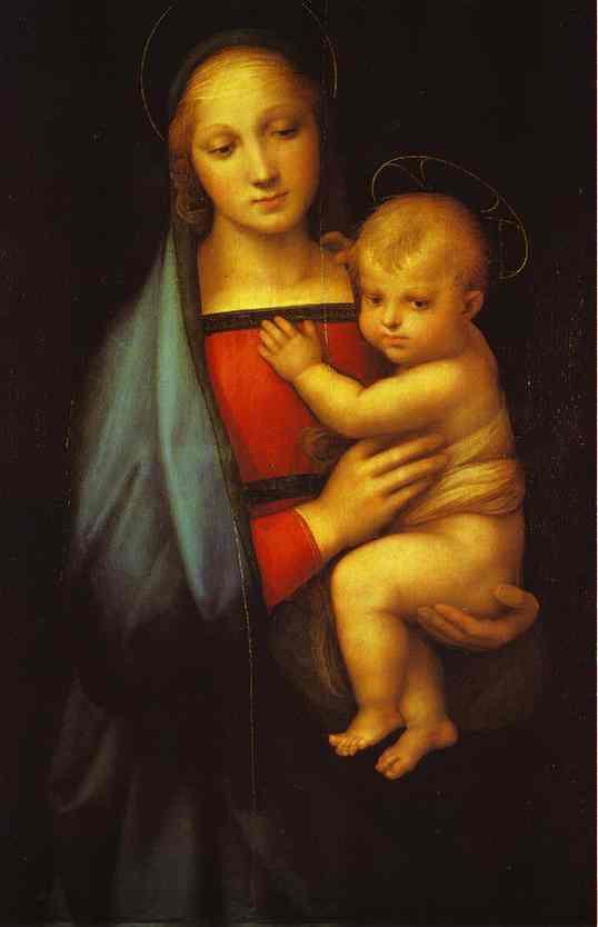 Oil painting:Madonna del Granduca. c.1505