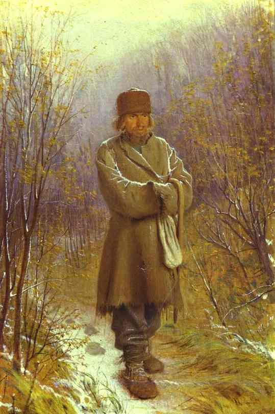 Oil painting:Meditator. 1876