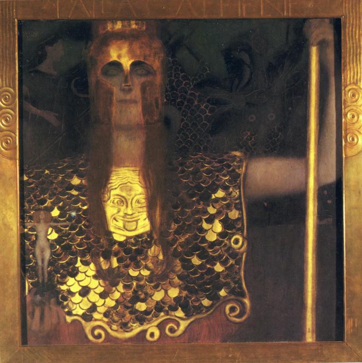 Oil painting:Pallas Athena. 1898