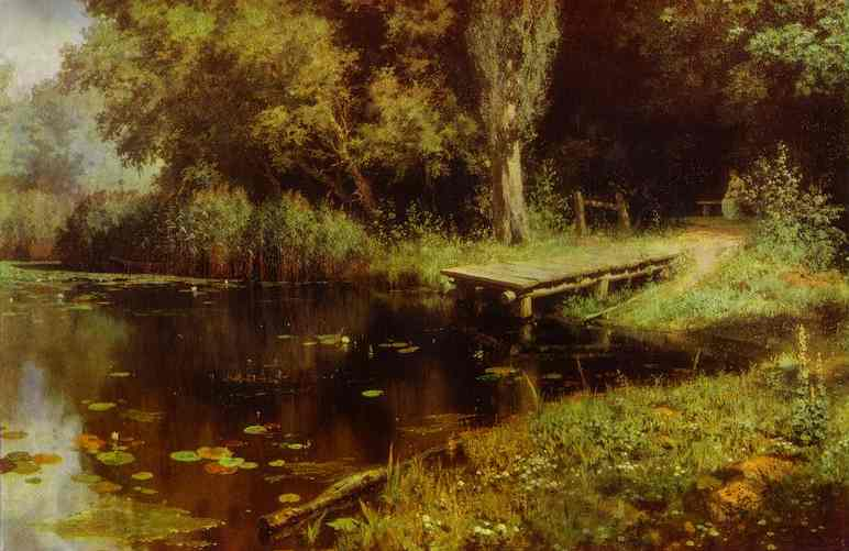 Oil painting:Pond. 1879