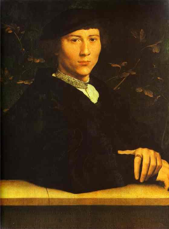 Oil painting:Portrait of Derich Born. 1533