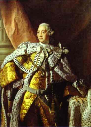 Oil painting:Portrait of George III. 1767
