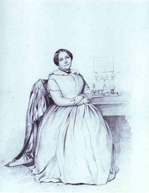 Oil painting:Portrait of M. Ye. Shishmareva. 1849
