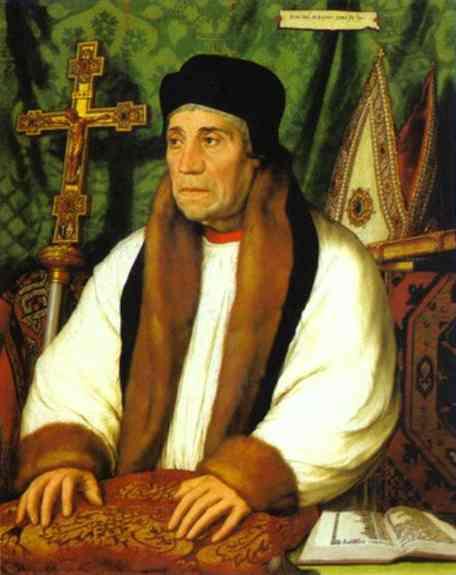 Oil painting:Portrait of William Warham. 1527
