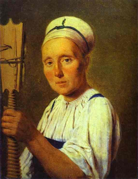 Oil painting:Spinner. 1820