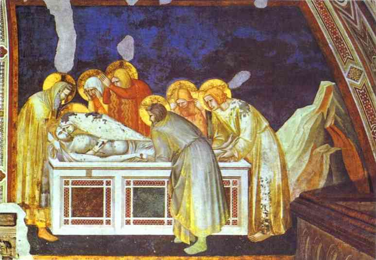 Oil painting:The Entombment. 1320