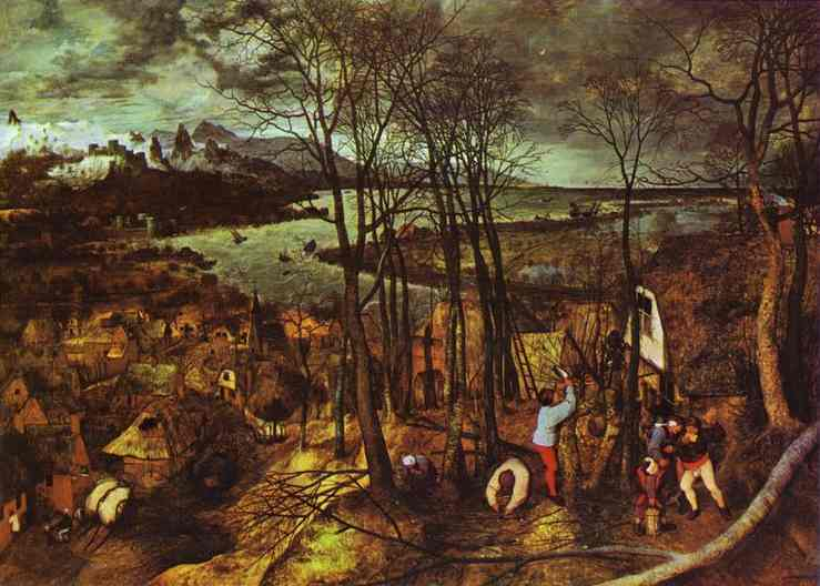Oil painting:The Gloomy Day (February). 1565
