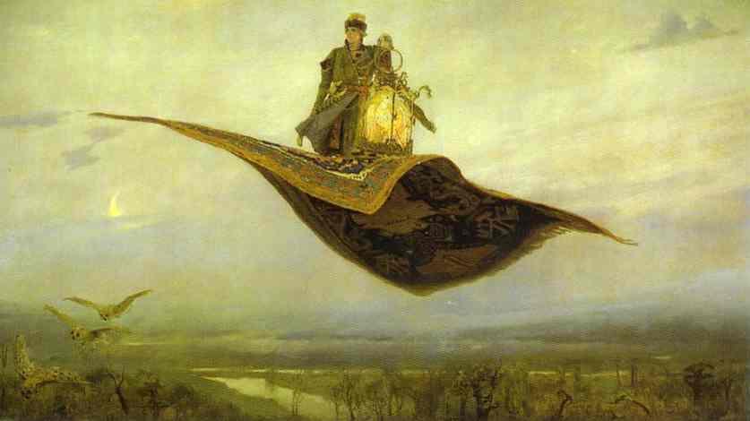 Oil painting:The Magic Carpet. 1880