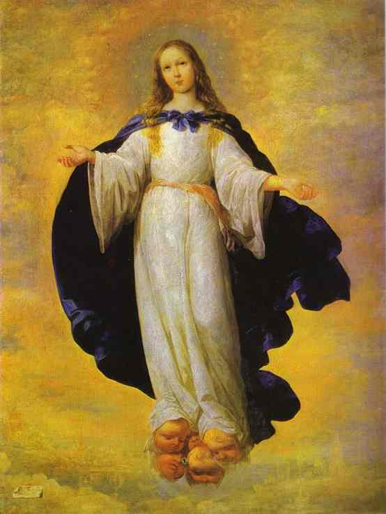 Oil painting:The Virgin. 1661