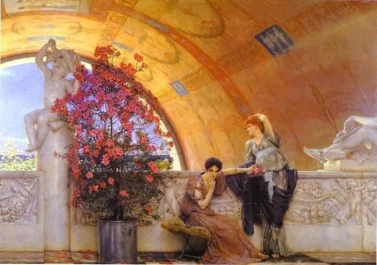 Oil painting:Unconscious Rivals. 1893