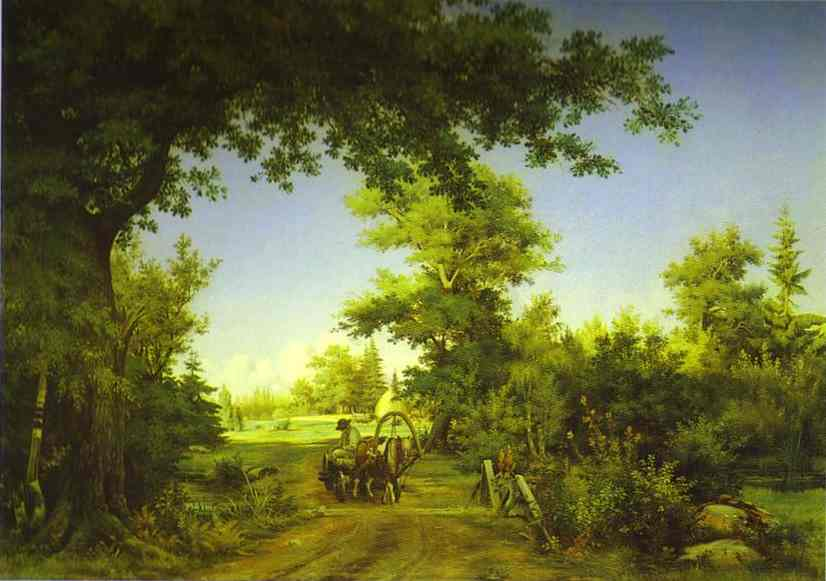 Oil painting:View in the Vicinity of St. Petersburg. 1856