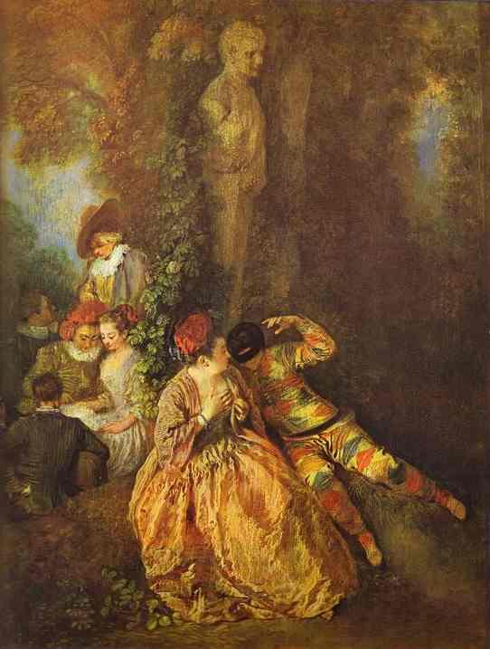 Oil painting:Voulez-vous triompher des belles? c. 1716