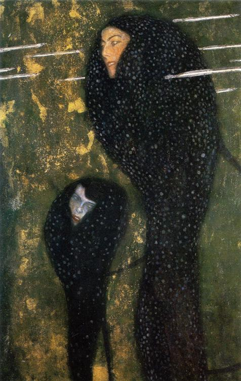 Oil painting:Water Nymphs (Silverfish). ca. 1899