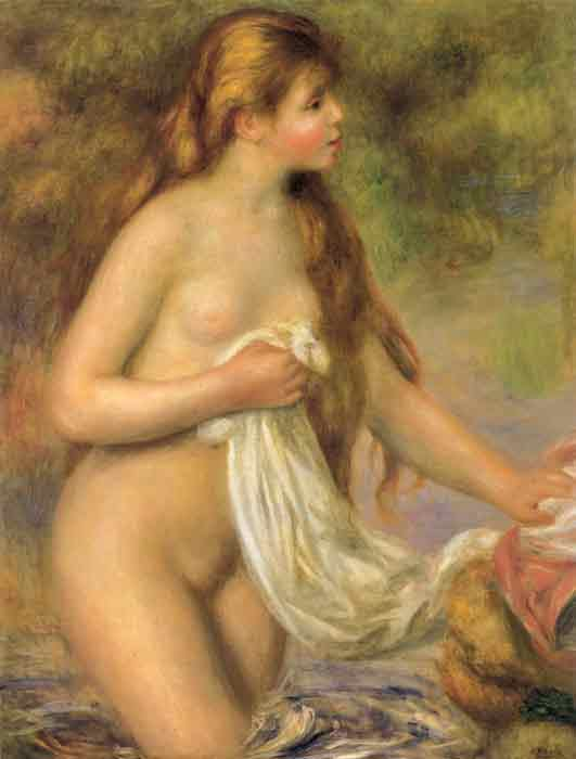 Oil painting for sale:Bather with Long Hair, c.1895