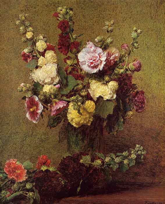 Oil painting for sale:Holly-hocks, 1892