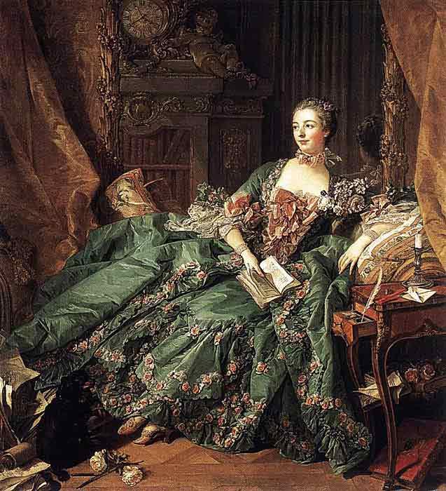 Oil painting for sale:Madame de Pompadour, 1756