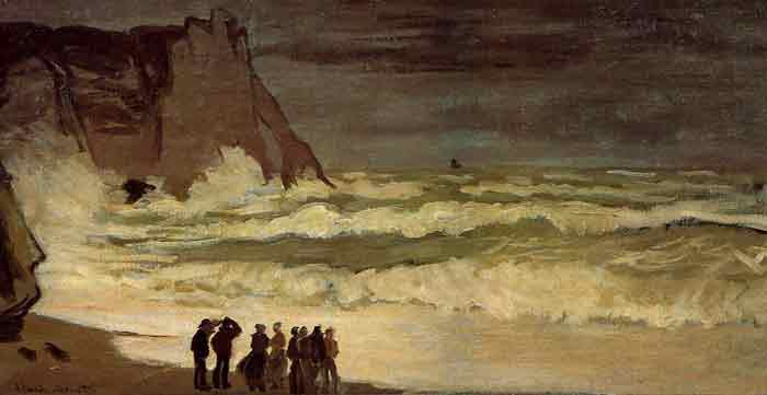 Oil painting for sale:Rough Sea at Etretet , 1868