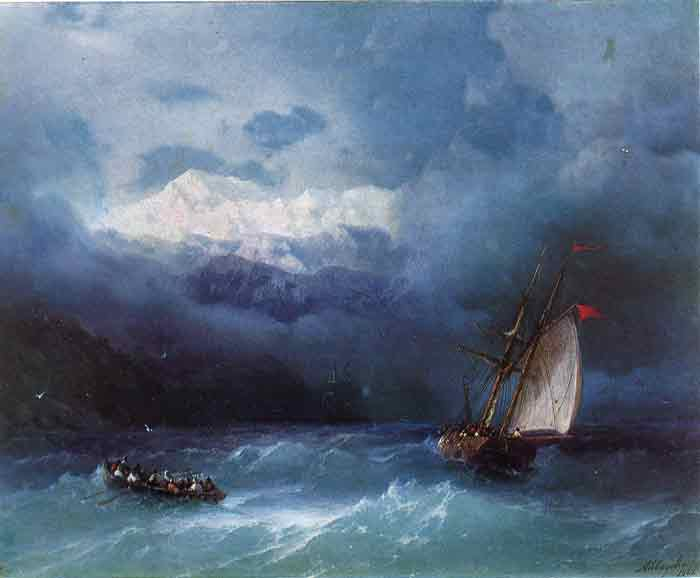 Oil painting for sale:Stormy Sea, 1868
