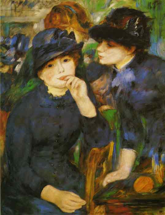 Oil painting for sale:Two Girls in Black, 1881
