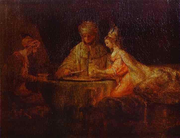 Assuerus, Haman and Esther. 1660