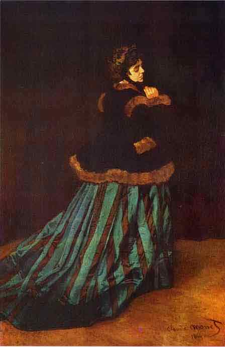 Camille Doncieux (Lady in Green). 1866.