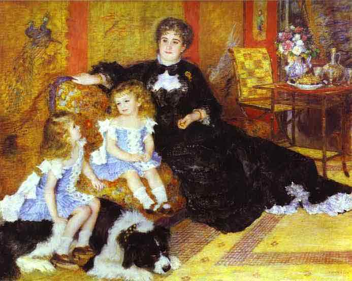 Madame Charpentier with Her Children. 1878