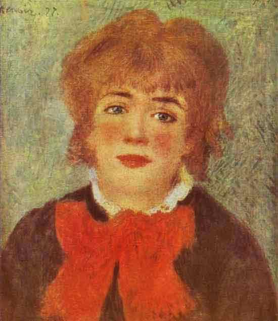 Portrait of the Actress Jeanne Samary. 1877