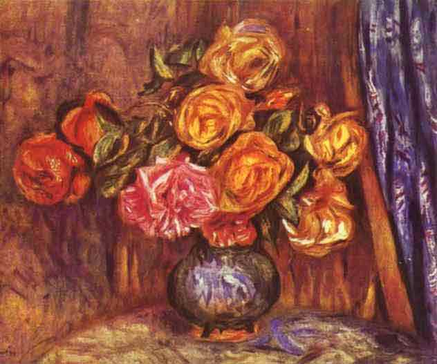 Roses Before the Blue Curtain. 1912