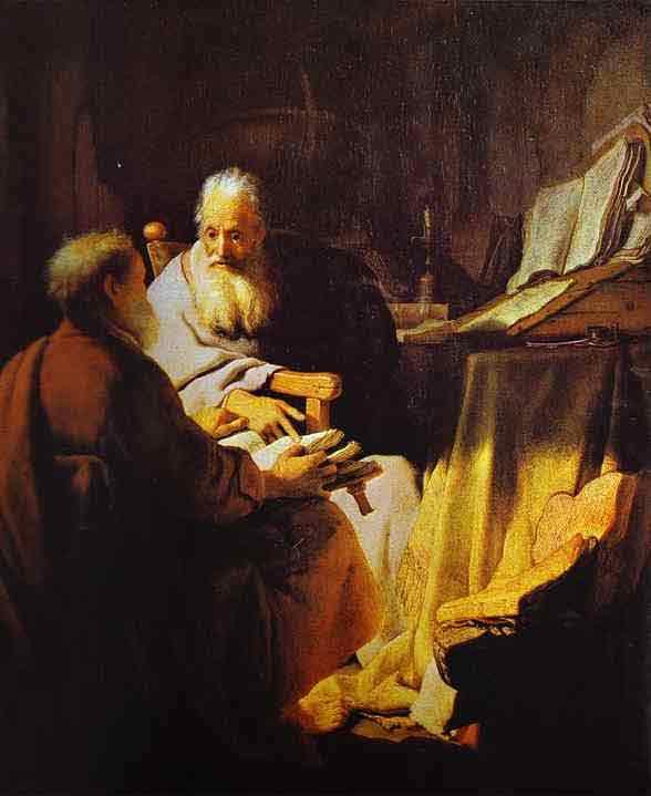 Two Scholars Disputing (Peter and Paul?). 1628