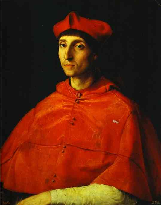 Oil painting:Portrait of a Cardinal. 1510