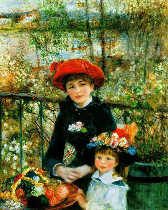 Oil painting for sale:Two Sisters on the Terrace, 1881