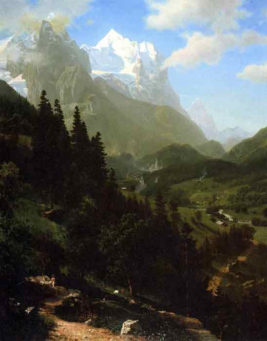 Oil painting for sale:The Wetterhorn , 1857