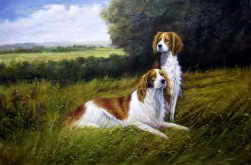 Oil painting for sale:dogs-041