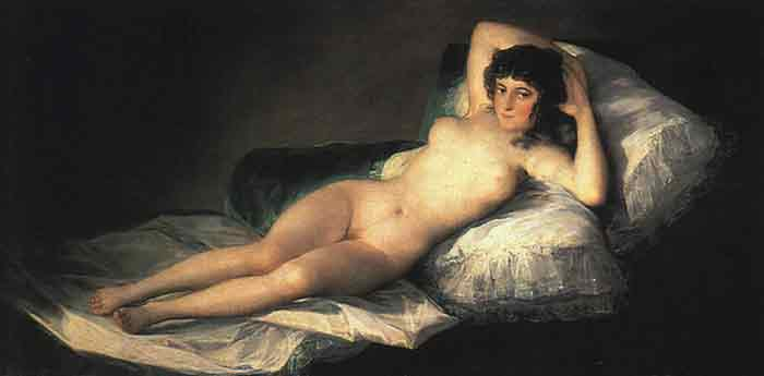 Oil painting for sale:Nude Maja, c.1800