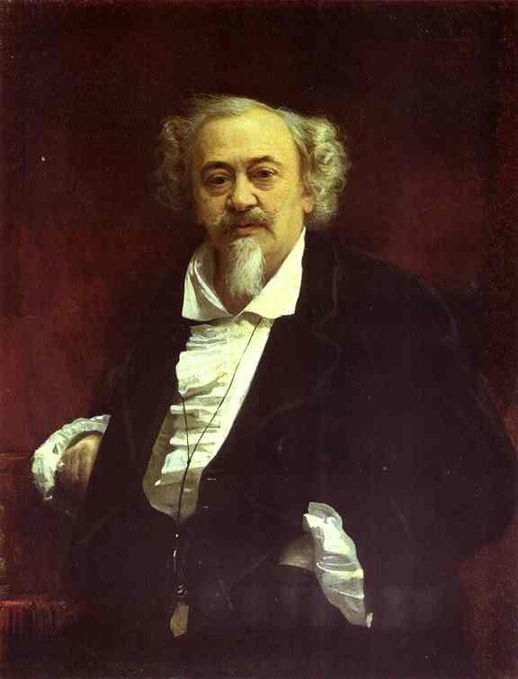 Oil painting:Portrait of the Actor Vasily Samoilov. 1881