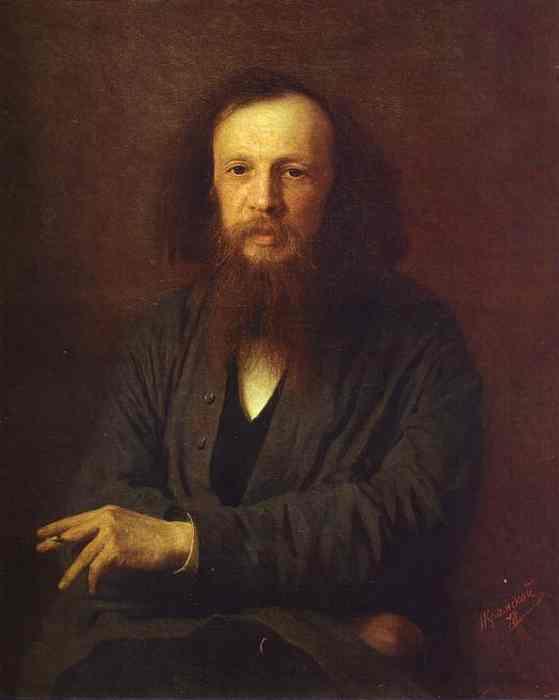 Oil painting:Portrait of Dmitry Mendeleyev. 1878