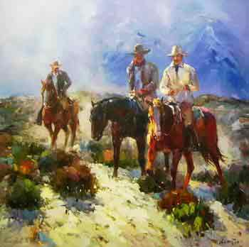 Oil painting for sale:horses-048