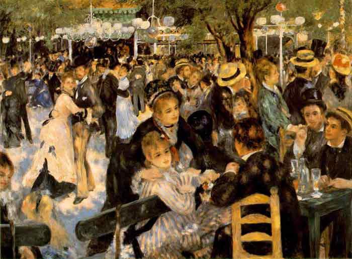 Oil painting for sale:Le Moulin de la Galette, 1876
