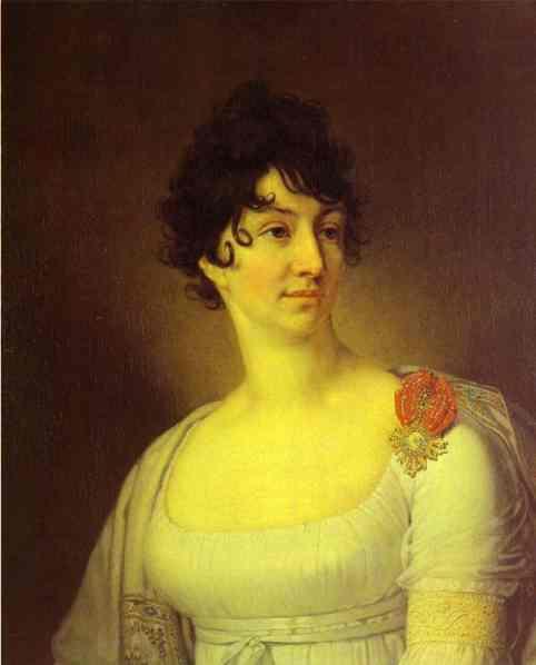 Oil painting:Portrait of S. A. Rayevskaya. 1813