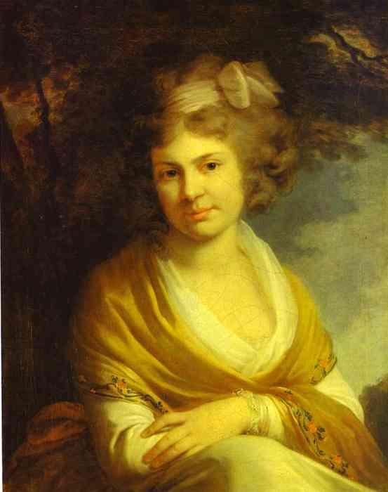 Oil painting:Portrait of Countess Natalia Suvorova (1775)