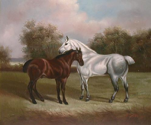 Oil painting for sale:horses-012