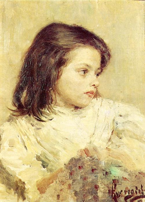 Oil painting: A Girl. Sketch. 1897