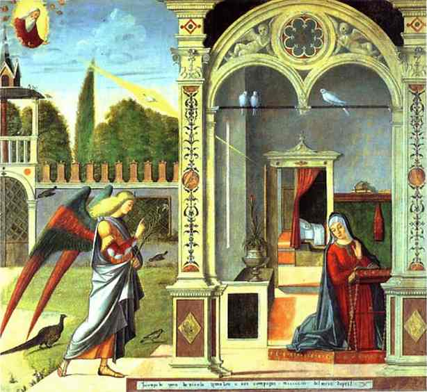 Oil painting:Annunciation. 1504