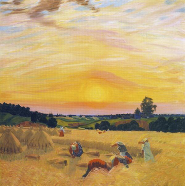 Oil painting: Harvest. 1914