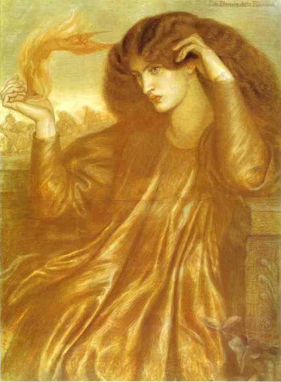 Oil painting:La Donna della Fiamma. 1870