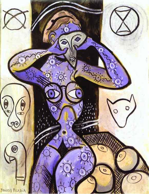 Oil painting:Les seins. c. 1924