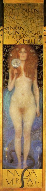 Oil painting:Nuda Veritas. 1899