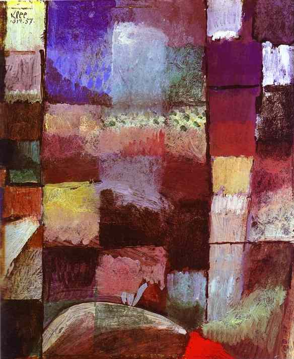 Oil painting:On a Motif from Hamamet. 1914